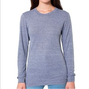 American Apparel tri blend collection long sleeve